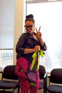 Elle Varner with Dylanger Rose Tote bag