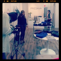 Behind the Scenes of the Get the Look Video Shoot at Presava Boutique