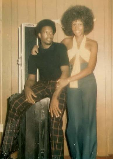 My First Fashion Inspiration: My mother Charmaine Wade in Wide Leg Pants with Husband Melvin Wade